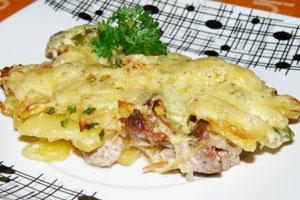 Слоеная картошка с мясом