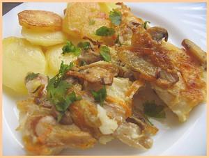Филе палтуса с картошкой запеченное в духовке