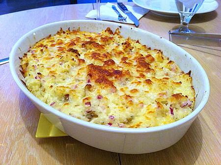 слоеная картошка с курицей в духовке рецепт