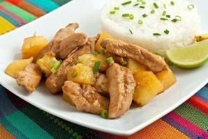 Куриное филе с персиками