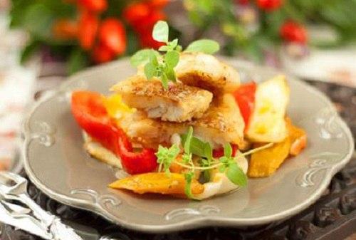 рецепт минтай с овощами в духовке