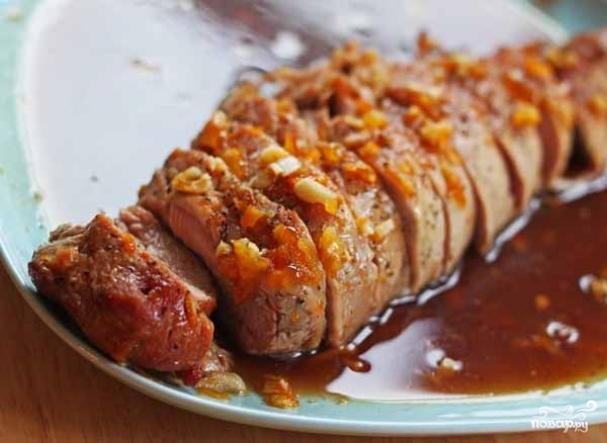 рецепт запечь свинину в духовке в меде