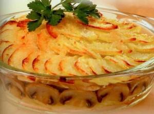 Картофельная запеканка приготовленная в духовке