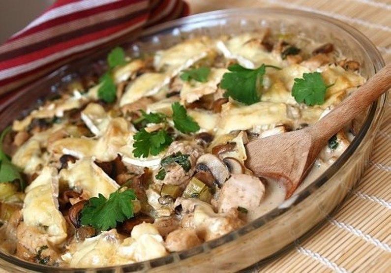 Картошка с курицей в сливках