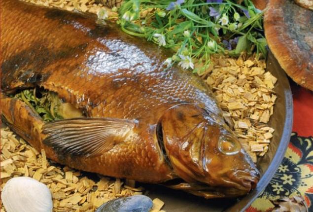 Копчение рыбы в духовке с опилками
