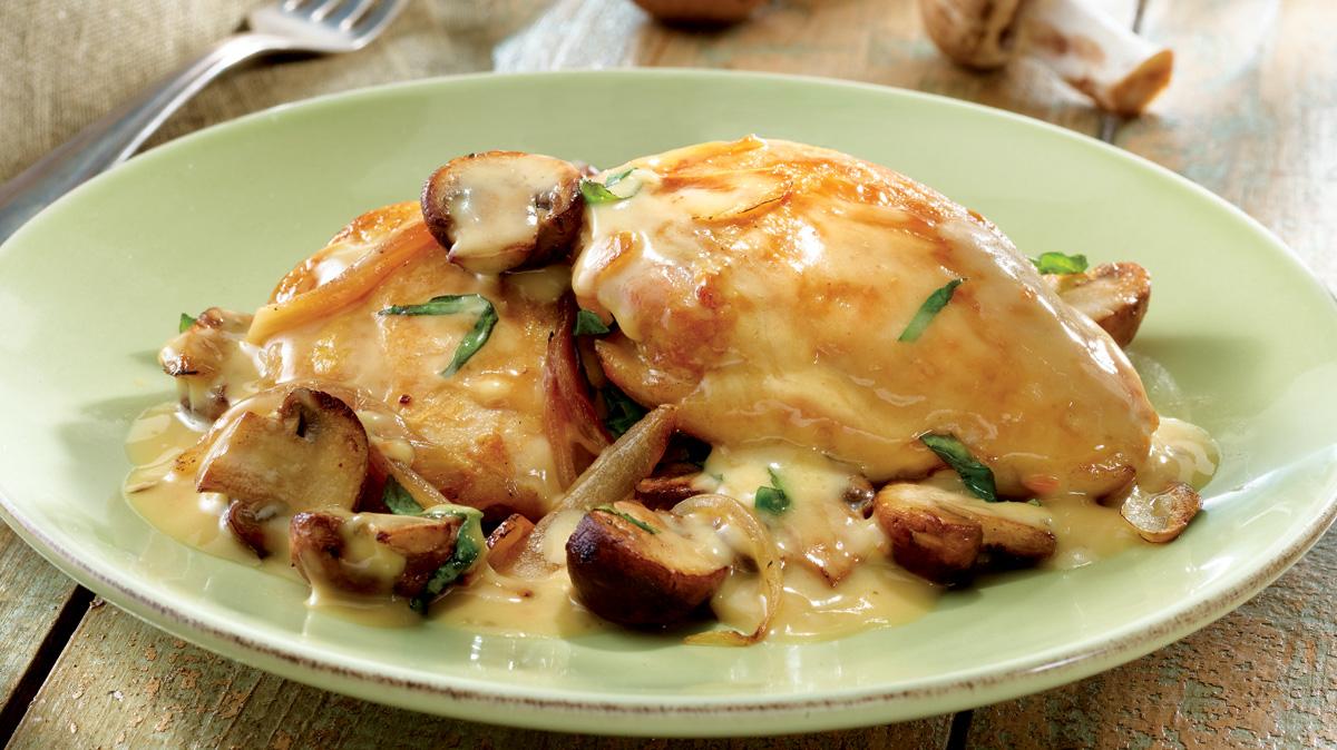 Картошка с курицей со сметаной в духовке
