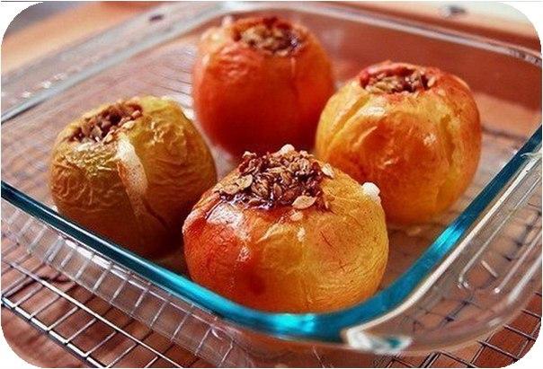 Печеные яблочки в духовке, рецепт
