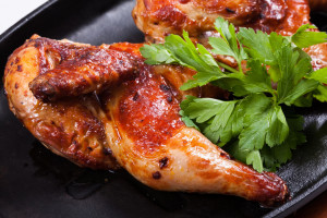 цыпленок в духовке