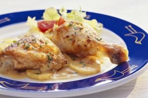 Курица в сметане в духовке