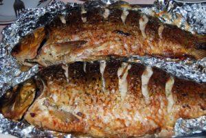 рыба в фольге в духовке