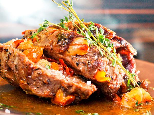 мясо с фольге с овощами в духовке рецепты
