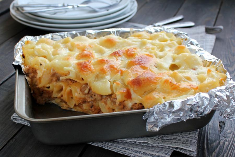 Запеканка макароны с яйцом в духовке рецепт пошагово