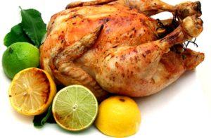 Запеченная курица с лимоном