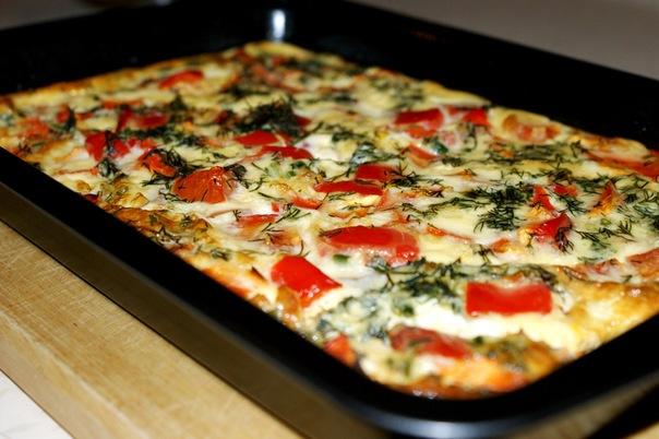 Омлет с курицей и овощами рецепт с