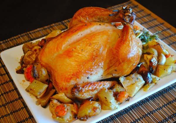 Курица с овощами в духовке рецепты правильное питание