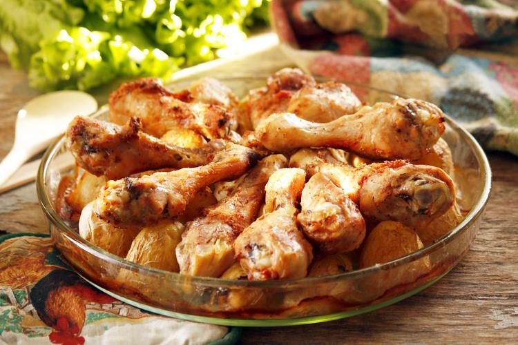 Куриные голени картошкой рецепты фото