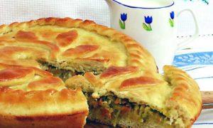 капустный пирог из дрожжевого теста
