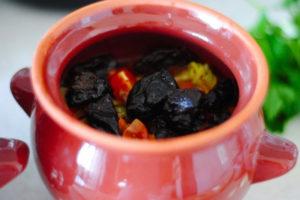 жаркое с черносливом и сыром