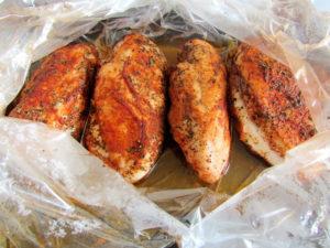 Куриные грудки в рукаве для запекания