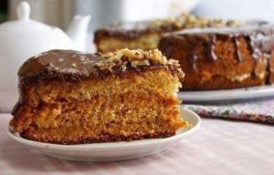 Медовый бисквит в духовке