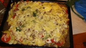 индейка с картошкой и сыром