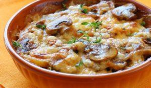 индейка с картошкой и грибами в духовке