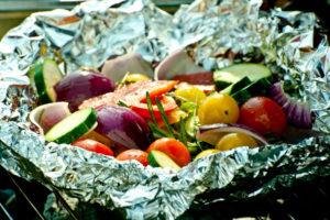 овощи в фольге в духовке