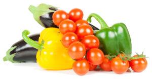 баклажан перец и помидор