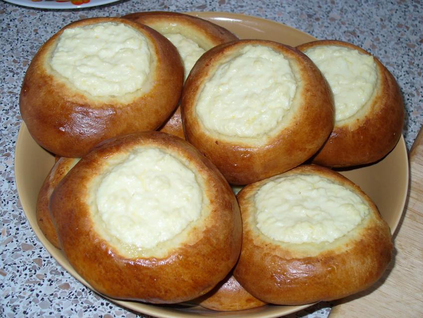 Сдобные ватрушки с творогом пошаговый рецепт