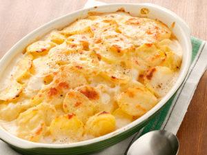 картошка в молоке в духовке