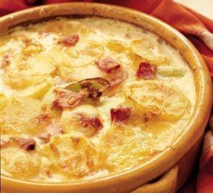 картошка в молоке и сыре в духовке
