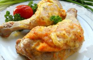 куриные окорочка под сыром