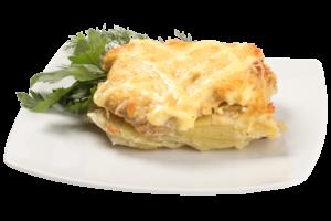 мясо с луком и сыром в духовке
