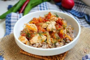 гречневая каша с мясом и овощами