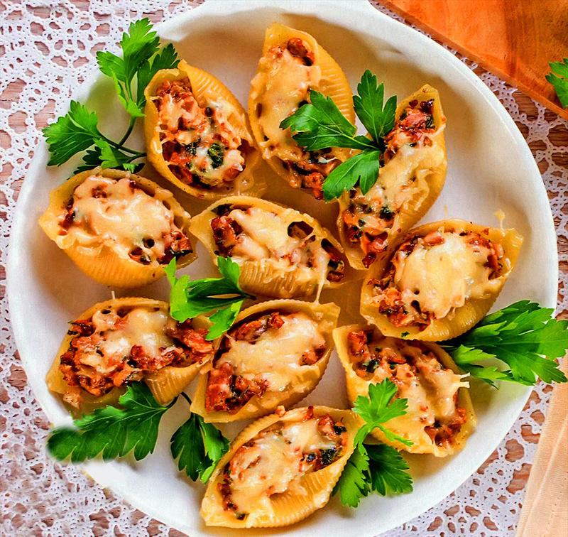 Фаршированные макароны ракушки с фаршем рецепт с фото в мультиварке