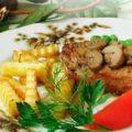 мясо с грибами и картошкой в духовке