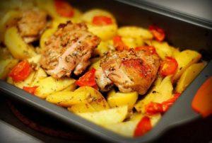 куриное филе запеченное с картошкой