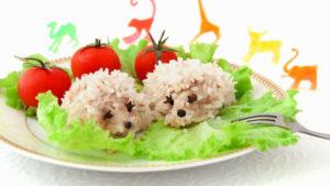 ежики с овощами в духовке