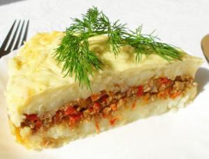 запеканка из мяса и картофеля с овощами