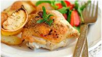курица с чесноком в духовке