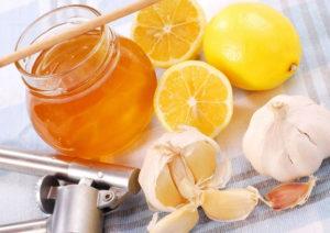 мед, лимон и чеснок