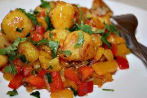 картошка запеченная с овощами