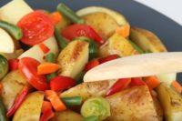 картошка с овощами в духовке