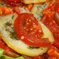 картошка с помидорами в духовке