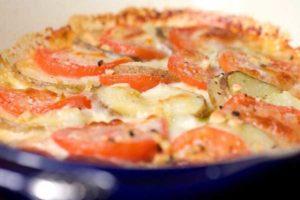 картошка запеченная с помидорами