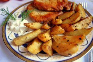 Хрустящая картошка в духовке