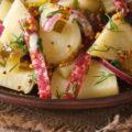 Картошка с колбасой в духовке