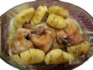 Курица в пакете для запекания в духовке