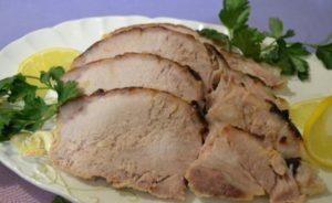 мясо куском в духовке