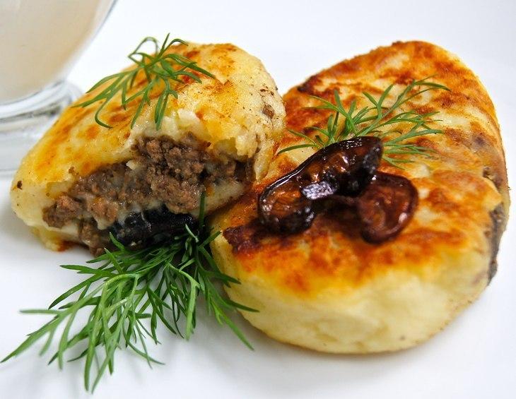 Картофельные зразы с грибами рецепт с фото пошагово